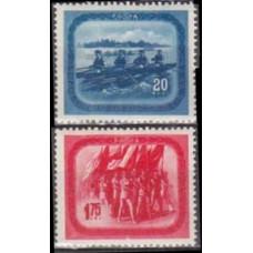1952 Rumania Mi.1411-1412 ** Sport 25,00
