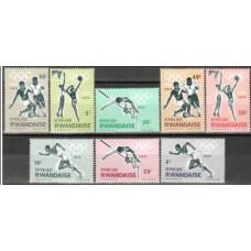 1964 Rwanda Michel 77-84 1964 Olympiad Tokio 5.00 €