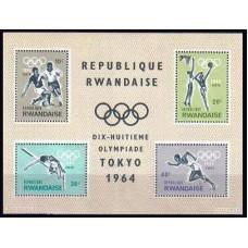 1964 Rwanda Michel 85-88/B2 1964 Olympiad Tokio 7.50 €