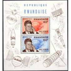 1963 Rwanda Mi.135-136/B5 Satellite / John F. Kennedy 12,00 €