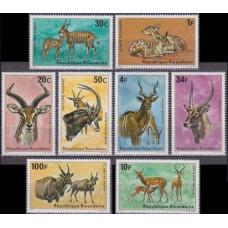 1975 Rwanda Mi.673-680 Fauna 15,00