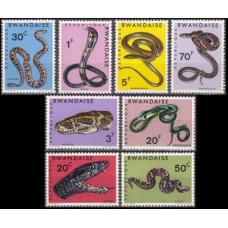 1967 Rwanda Mi.201-208 Reptiles 7,00 €