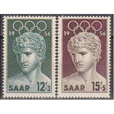 1956 SAAR Mi.371-372 1956 Olympiad Melbourne 1,40 €