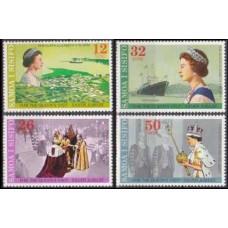 1977 Samoa Mi.346-349 Elizabet II 2,40 €