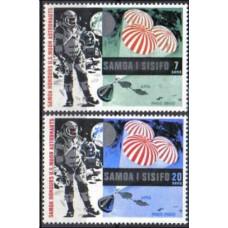 1969 Samoa Mi.204-205 Apollo 11 1,20 €