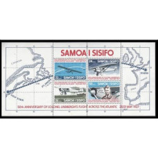 1977 Samoa Mi.350-353/B13 Planes 5,50 €