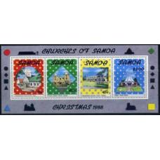 1988 Samoa Mi.665-68/B45 Christmas 5,50 €