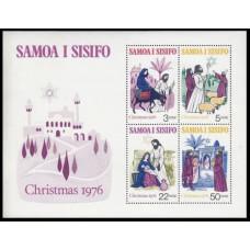 1976 Samoa Mi.342-45/B12 Christmas 3,50 €