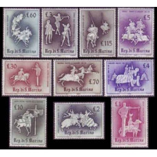 1963 San Marino Mi.764-773 Horses 1,20 €
