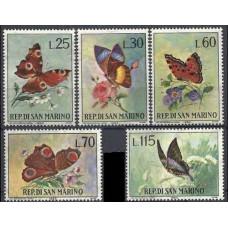 1963 San Marino Mi.776-780 Butterflies 1,20 €