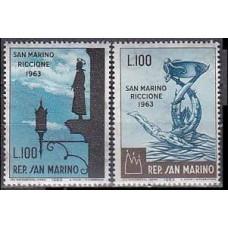 1963 San Marino Mi.774-775 Riccione 0,40 €