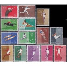 1960 San Marino Mi.645-658 Mi.1960 Olympics in Rome 1,70 €