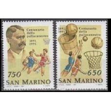 1991 San Marino Mi.1477-1478 Basketball 1,80