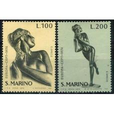 1974 San Marino Mi.1067-1068 Europa 1,00