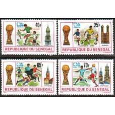 1974 Senegal Michel 553-556 1974 World championship on football of Munchen 3.60 €
