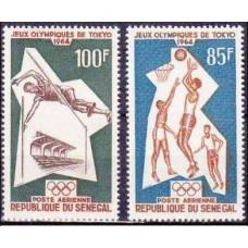 1964 Senegal Mi.288-289 1964 Olympics Tokyo 6,00 €