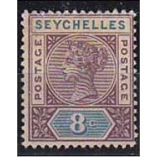 1890 Seychelles Michel 3 II * Victoria 6.00 €
