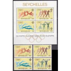 1984 Seychelles Mi.563-566+B24 1984 Olympiad Los Angeles 13,50 €