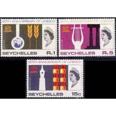 1966 Seychelles Mi.232-34** Elizabet II 4.00
