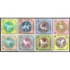 1964 Sharjah Mi.61-68 1964 Olympiad Tokio 5.00 €