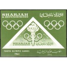 1964 Sharjah Mi.106/B10b 1964 Olympiad Tokio 10,00 €