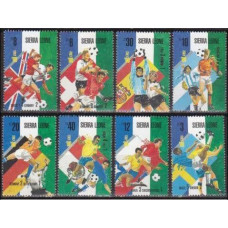 1989 Sierra Leone Michel 1154-1161 1990 World championship on football of Italien 15.00 €
