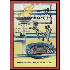 1989 Sierra Leone Mi.1173/B97 1988 Olympiad Seoul 7,50 €