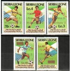 1986 Sierra Leone Mi.926-930 Overprint- ARGENTINA-3 GERMANY-2 20.00 €