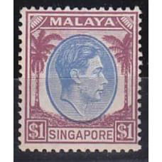 1948 Singapore SG13* George VI £10.00