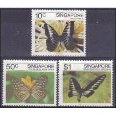 1982 Singapore Mi.393-395 Butterflies 5.00 €