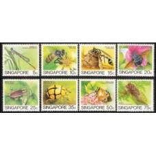 1985 Singapore Mi.463-470 Insects 15.00 €