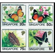 1993 Singapore Mi.697-700 Butterflies 6,80 €