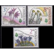 1995 Slovakia Mi.217-219 Flowers 2,00 €