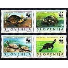 1996 Slovenia Mi.131-134 WWF 3,00 €