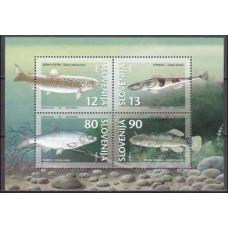 1997 Slovenia Mi.182-185/B4 Sea fauna 3,50 €
