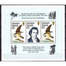 1985 Solomon Islands British Mi.562-563/B18 Audubon 7,00 €