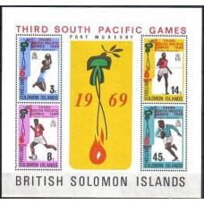 1969 Solomon Islands British Michel 185-188/B1 Sport 10.00 €