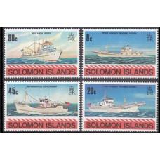 1980 Solomon Islands British Mi.409-412 Ships 2,60 €