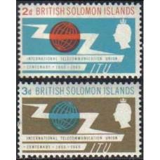 1965 Solomon Islands British Michel 128-29** ITU 1.60 €