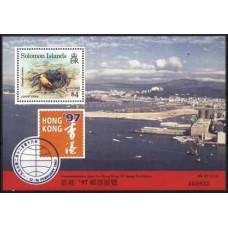 1997 Solomon Islands British Mi.820/B47 Sea fauna 2,50