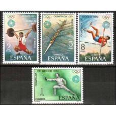 1972 Spain Mi.1993-96 1972 Olympiad Munhen 1.30 €