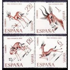 1969 Spanish Sahara Mi.302-305 Fauna 3,00 €