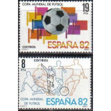 1980 Spain Mi.2462-63 1982 World championship on football of Spanien 0,50