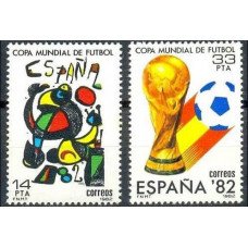 1982 Spain Mi.2532-33 1982 World championship on football of Spanien 0,80 €