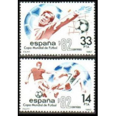 1982 Spain Mi.2548-49 1982 World championship on football of Spanien 1,10 €