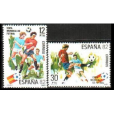 1981 Spain Mi.2496-97 1982 World championship on football of Spanien 0.60