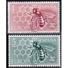1962 Spain Mi.1340-41 Insects 2,00 €