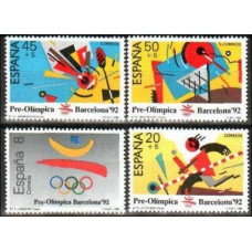 1988 Spain Mi.2844-47 1992 Olympiad Barselona 3.00