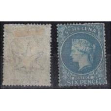 1863 St Helena Mi.2c (*) Victoria 600.00 €