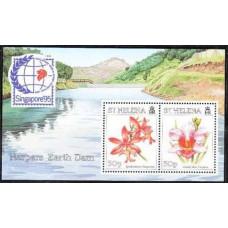 1995 St Helena Mi.671-672/B15 Flowers 4,00 €